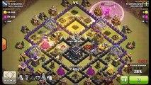 Clash of Clans - Amazing HOG RIDER Attack War TH 9 Max Defense Destroy Attack _ Perfec 100