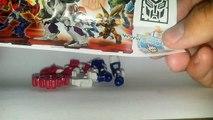 Des œufs enfant premier jouets transformateurs contre Megatron oeufs optimus kinder surprise surprise