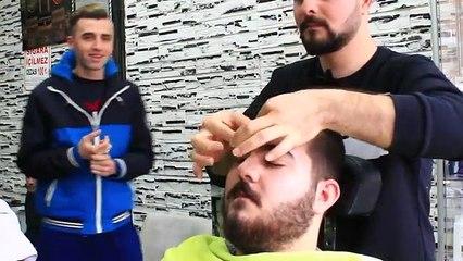 Et Précédent dos coiffeur Prime shampooing Turc Asmr face, massage de la tête 33