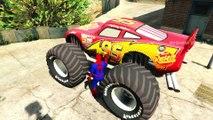 Monster Truck Mcqueen Og Tegneserie Spiderman Biler Gjennomgang Film For Barn