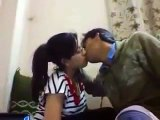 College girl kiss with her boyfriend