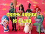 GREEN ARROW IS A LIAR DORAEMON MOANA AGNES GRU LITTLE MERMAID ACTION FIGURES Toys BABY Videos CW SERIES JUSTICE LEAGUE,