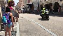 Le départ du Critérium des Arcades à Remiremont
