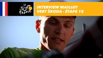 L'interview du maillot vert ŠKODA - Étape 15 - Tour de France 2017