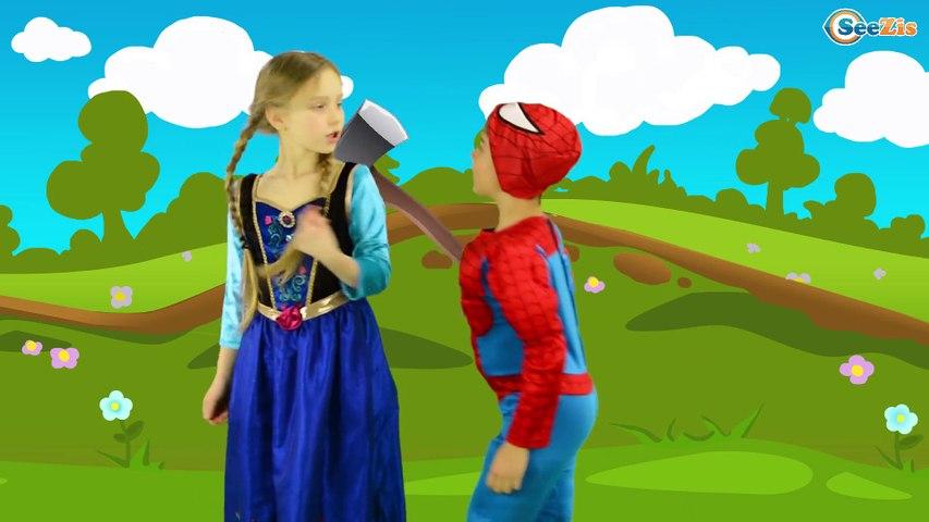 Superheroes london bridge is falling down   nursery rhymes farmees   kids songs   3d rhymes