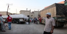 International Aid Convoy Arrives in Opposition-Controlled Northern Homs Province