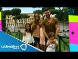 Juanes y su familia de vacaciones en Roma, Italia / Juanes and his family vacation in Rome, Italy