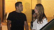 Salman Khan Escorts Iulia Vantur To Her Car At Alvira Khan's Birthday Bash