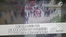 Les images de l'attaque du policier à Notre-Dame de Paris