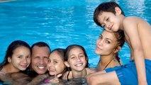 Jennifer Lopez And Alex Rodriguez Enjoy Pool Time With Kids