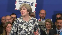 Theresa May pulls face in disgust at thought of Corbyn as PM