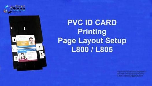PVC Id Card Printing Page Layout (Template) fadsor Epson L800, L805, L810 &  L850 Pr