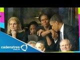 Michelle Obama protagoniza escena de celos en los funerales de Nelson Mandela
