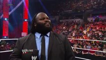 Mark Henry Declares He Will Win The WWE Title At Money In The Bank WWE Raw June 24th 2013