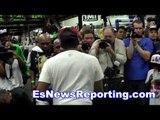 floyd mayweather vs manny pacquiao workout vs workout - esnews boxing