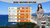 Summery weather under mostly sunny skies