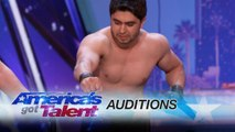 America's Got Talent 2017 - Azeri Brothers- Scary Dudes Freak Out the Audience with Torture Stunts