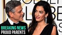 George Clooney & Amal Clooney Welcome TWINS Ella & Alexander | BREAKING NEWS