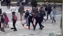 Vidéo de l'agression du terroriste sur les policiers de Notre Dame
