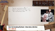 Don't Go Breaking My Heart - Elton John & Kiki Dee Bass Backing Track with chords and lyrics