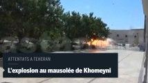 Des images de l'explosion au pied du mausolée de l'ayatollah Khomeyni à Téhéran
