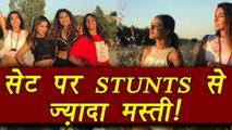 Khatron Ke Khiladi 8: Hina Khan, Nia Sharma, Manveer Gurjar ENJOYING on sets   FilmiBeat