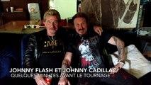 """Deux sosies de Johnny avant le tournage de l'émission: """"l'avis des Belges"""" sur la RTBF"""