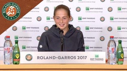 Roland Garros 2017 : 1/2 finale Conférence de presse Jelena Ostapenko