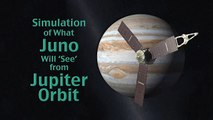 Juno Jupiter Orbiter Jupiter Orbit Simulation 2011 NASA JPL 720 HD 39sec 2