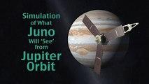 Juno Jupiter Orbiter Jupiter Orbit Simulation 2011 NASA JPL 720 HD 39sec 2