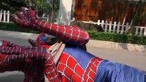 Spiderman Tied Crashed by Train!!! Superheroes Fun Joker Hulk Venom Children Movies Action