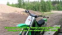 370.Kawasaki KX 125 -96 Ramp Jumps.Whips.Tricks.