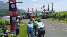 Pauwels est passé en tête au sommet de la côte de Jongieux / Pauwels 1st in Jongieux - Étape 6 / Stage 6 - Critérium du Dauphiné 2017