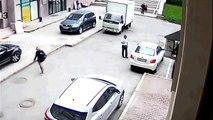 pédale en folie - femme au volant - parking fail