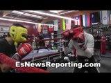 ivan redkach sparring andy ruiz at robert garcia boxing acaemy - EsNews