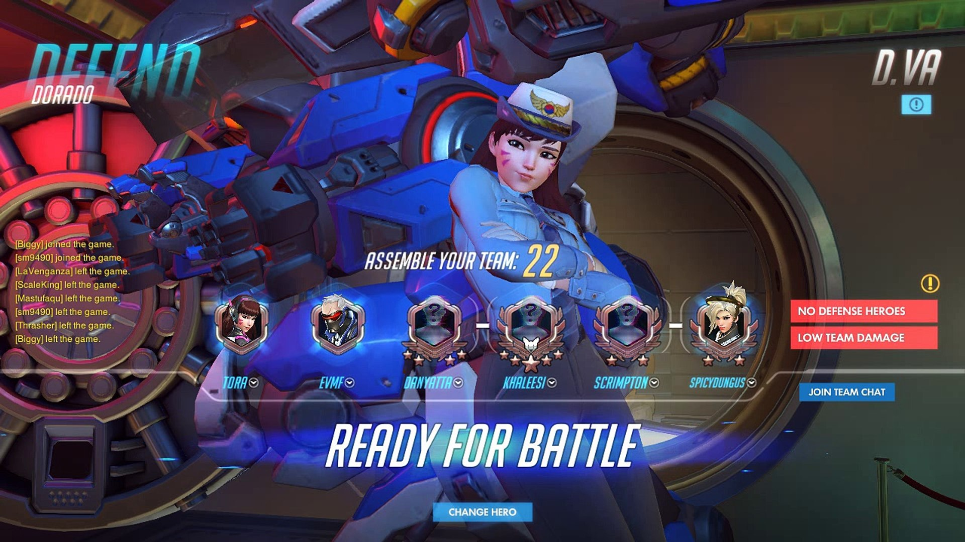 Overwatch 000-DVA-000-027  D.Va Placement Match 5 - We lost oh well