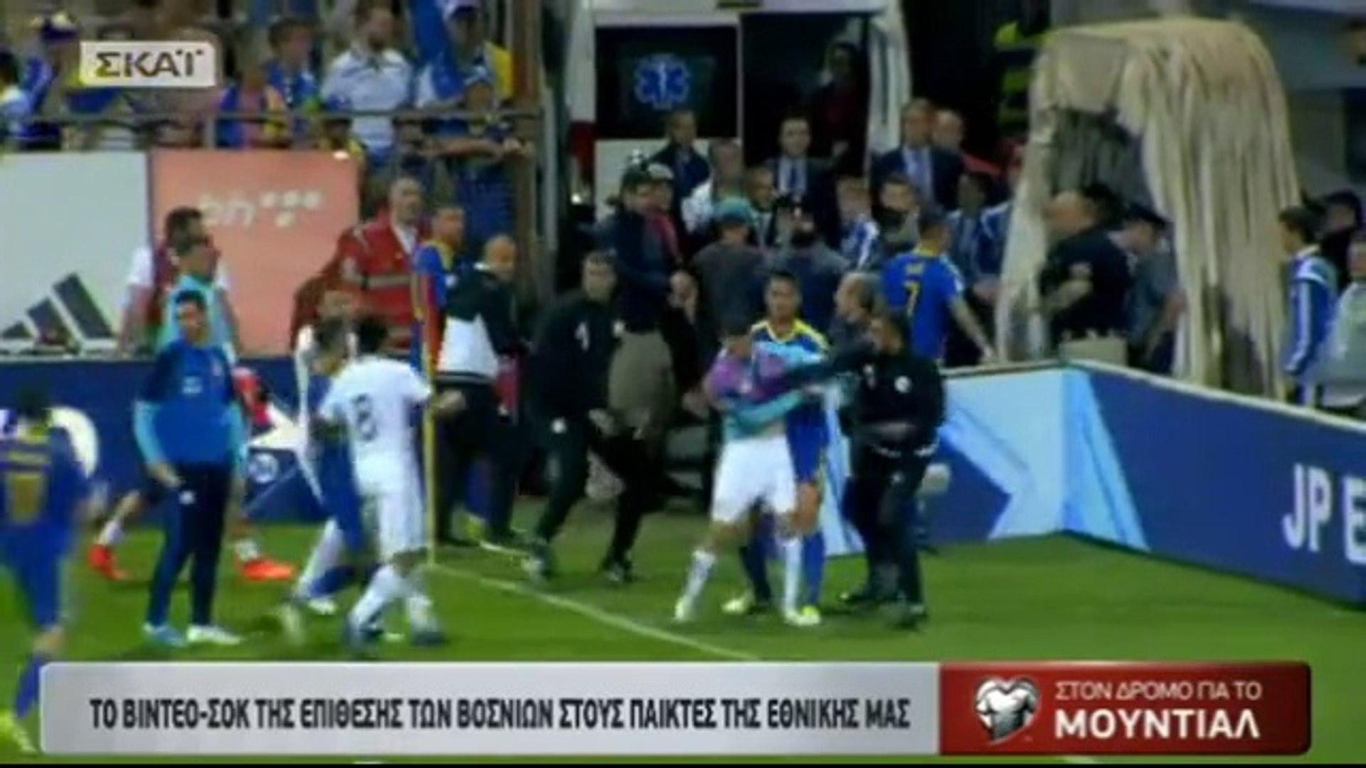 Mayhem in Zenica: Bosnian Asst Coach, Stephane Gilli punched Greek player G. Gianniotas