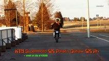 145.KTM 525 Supermotard & Polaris Outlaw ATV 525