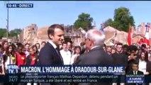 Très ému, le dernier rescapé d'Oradour-sur-Glane s'adresse à Emmanuel Macron