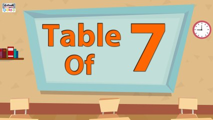 7 Times Table Multiplication | Learn 7x Table | Learn Seven Multiplication Tables For Kids | English