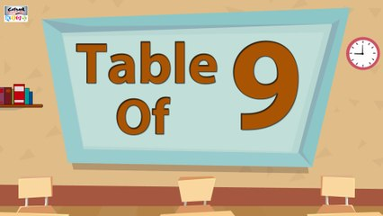 Learn 9x Table Multiplication | 9 Times Table | Learn Nine Multiplication Table For Kids | English