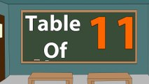 Learn 11x Table Multiplication   11 Times Table   Learn Eleven Multiplication Tables For Kids