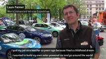 Electric car rally held to help fight global warming