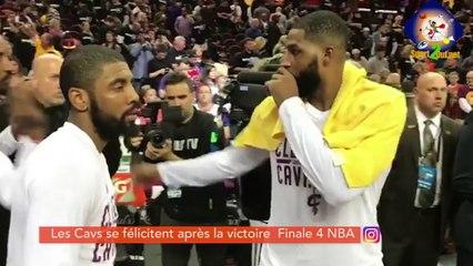 #HASHTAG - Les CAVS se félicitent après la victoire au Match 4 de la finale NBA.