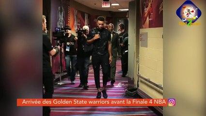 #HASHTAG - Arrivée des Golden State Warriors pour le match 4 de la finale NBA
