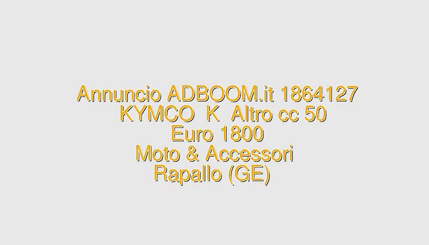 KYMCO  K  Altro cc 50