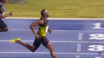 Jamaican Usain Bolt races in final event on home soil