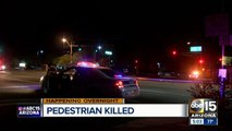 Pedestrian struck and killed near 67th Avenue and Indian School