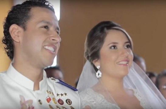 Así fue el matrimonio de Martín Elías y su mona linda Dayana Jaimes