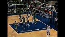 Larry Bird amazing wrap around pass vs Indiana Pacers 1991